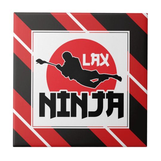 LAX Ninja Lacrosse Ceramic Tile