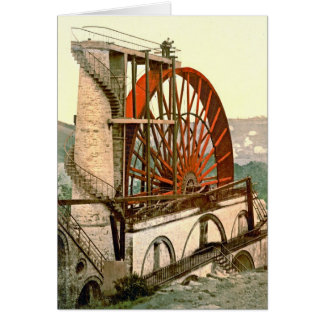 Laxey Wheel 1890 Card