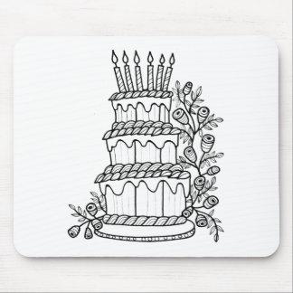 Layer Cake Line Art Design Mouse Pad