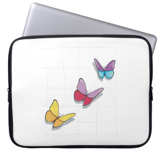 Layer Colorful Butterflies 3D Laptop Sleeve