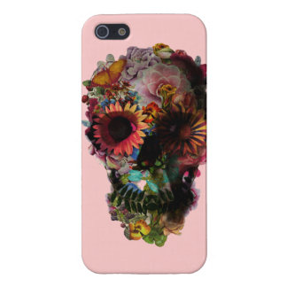 "Layer for iPhone 5 ""Skull of flowers "" iPhone 5/5S Cases"