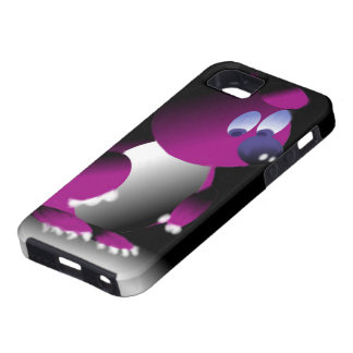 Layer for iPhone IF with print of purple bear Tough iPhone 5 Case