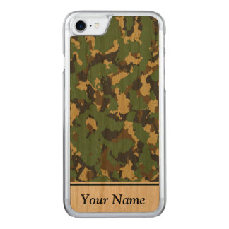 Layer green Camouflage Carved iPhone 8/7 Case
