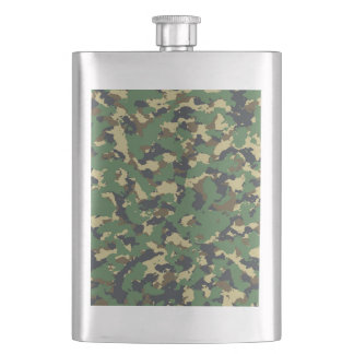 Layer green Camouflage Hip Flask