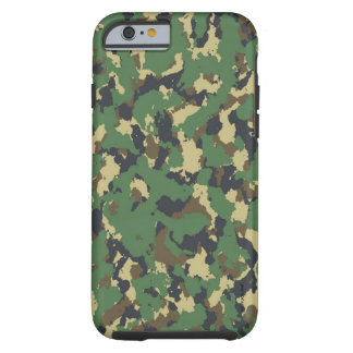 Layer green Camouflage Tough iPhone 6 Case