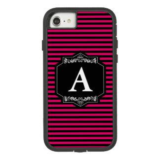 Layer iPhone 8/7, Tough Pink Stripes Monogram Case-Mate Tough Extreme iPhone 8/7 Case