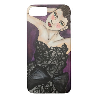 LAYER IPHONE PICTURE FRECKLES FASHION GIRL iPhone 8/7 CASE