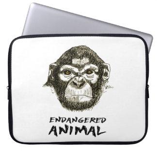 Layer Monkey - Animal in extinction danger Laptop Sleeve