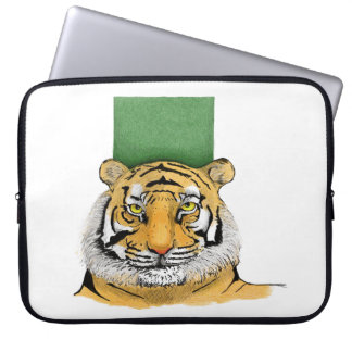 Layer Scribbled Tiger Laptop Sleeve