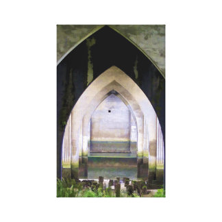 Layered Arches Canvas Print