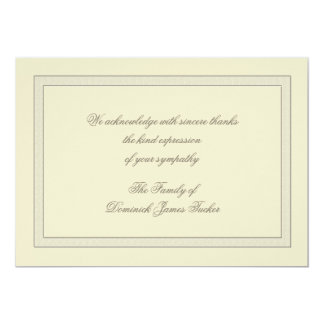 Layered Bereavement Thank You Notecard