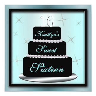 Layered Cake Birthday Party Invite