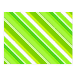 Layered candy stripes - lime green and white postcards
