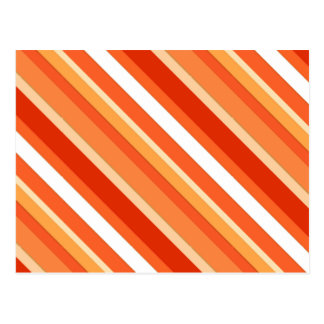 Layered candy stripes - orange and white postcard