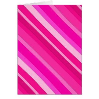 Layered candy stripes - pink and fuchsia greeting card