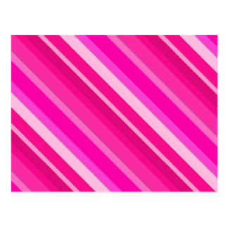 Layered candy stripes - pink and fuchsia postcard