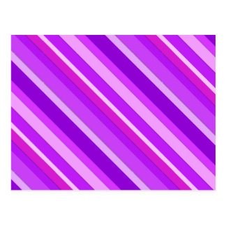 Layered candy stripes - purple and orchid post cards