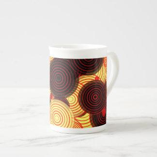 Layered circles tea cup