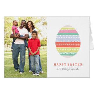 Layered Egg Easter Greeting Card - Crimson