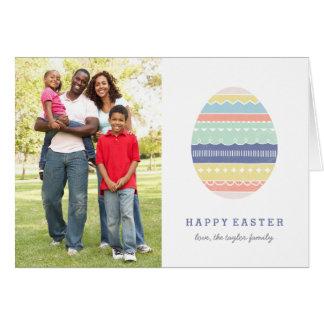 Layered Egg Easter Greeting Card - Indigo