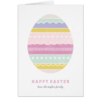 Layered Egg Easter Greeting Card - Mauve