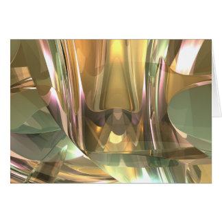 Layered Glass Greeting Card