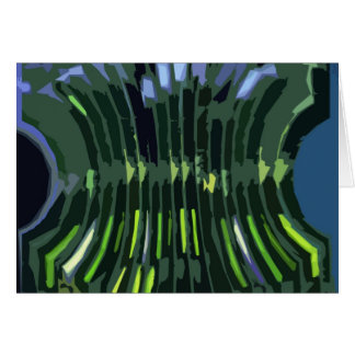 Layered Green Rock Formations - Artistic Work Greeting Card