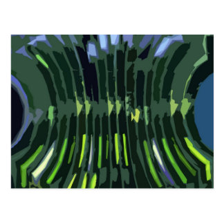 Layered Green Rock Formations - Artistic Work Postcard