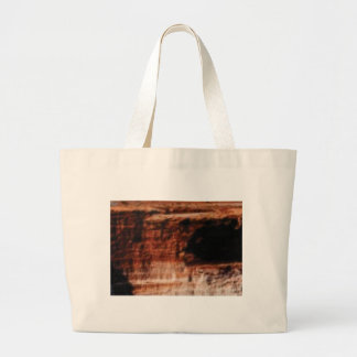 layered red rock cliffs large tote bag