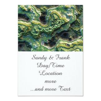 layered rock, green (I) 13 Cm X 18 Cm Invitation Card
