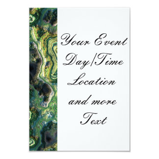 layered rock, green (I) 9 Cm X 13 Cm Invitation Card