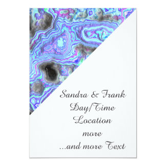 layered stone blue (I) 13 Cm X 18 Cm Invitation Card