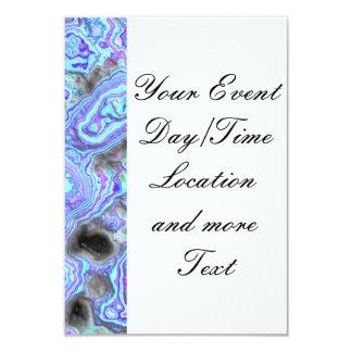 layered stone blue (I) 9 Cm X 13 Cm Invitation Card