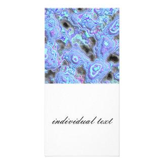 layered stone blue (I) Photo Greeting Card