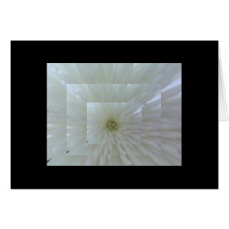 Layered White Flower Card