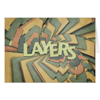 Layers Greeting Card