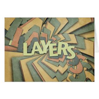 Layers Greeting Card