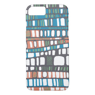 Layers in orange and blue iPhone 8/7 case