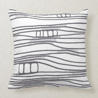 Layers neutral throw pillow