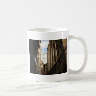 Layers of Buildings in the Financial District, NYC Basic White Mug
