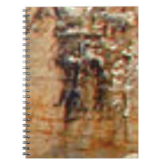 layers of cliff rocks notebook