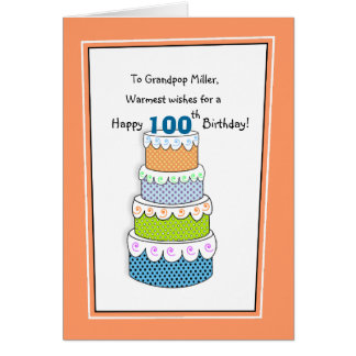 Layers of Good Wishes 100th Birthday Card