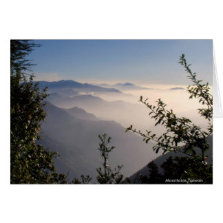 Layers of Mountains in Clouds/Landscape Greetings Greeting Card
