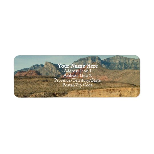 Layers of Red Rock Return Address Label