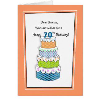 Layers of Wishes 70th or Any Age Birthday Card