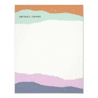 Layers Stationery - Lavender 11 Cm X 14 Cm Invitation Card