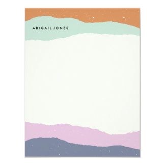 Layers Stationery - Lavender Card