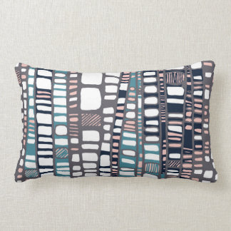 Layers teal lumbar pillow