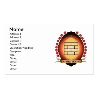 Laying Bricks Mandorla Business Card Templates
