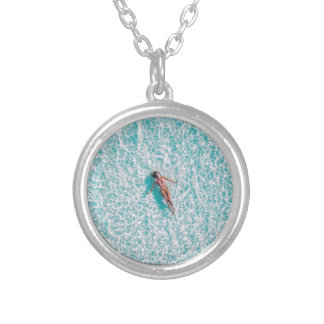 Laying in the sea Gift Silver Plated Necklace
